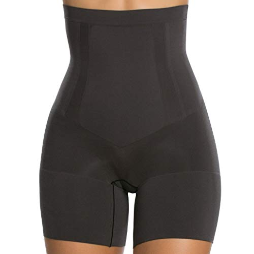 Spanx - On-Core - Damen Highwaist Shaping Shorts/Hose mit hohem Bund und Bein - Miederhose - hoher Shaping Level - Sculpt - Shapeware in Haut oder Schwarz (42-44 (Herstellergröße L), Schwarz)