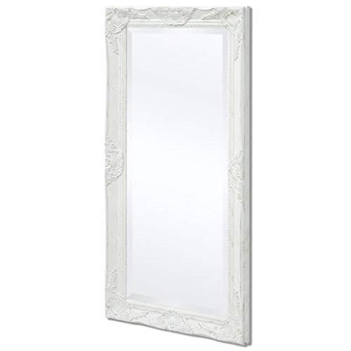 vidaXL Espejo Blanco de Pared Estilo Barroco 100x50 cm Retro Vintage Antiguo