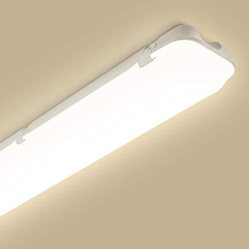 LED Feuchtraumleuchte 120cm, Oeegoo LED Deckenleuchte 46W 5250Lm(115Lm/W), IP65 wasserdicht LED Deckenlampe Werkstattlampe, Ersetzt 400W Glühbirne, LED Lampe für Keller Garage Lager Neutralweiß 4000K