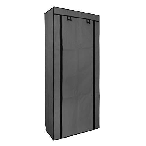 EGLEMTEK Scarpiera Armadio a 10 Ripiani in Tessuto, Fino a 27 Paia di Scarpe, Organizzatore Armadio, Portascarpe Mobiletto Guardaroba, 160 x 58 x 28 cm, Tessuto Grey (Colore Grigio)