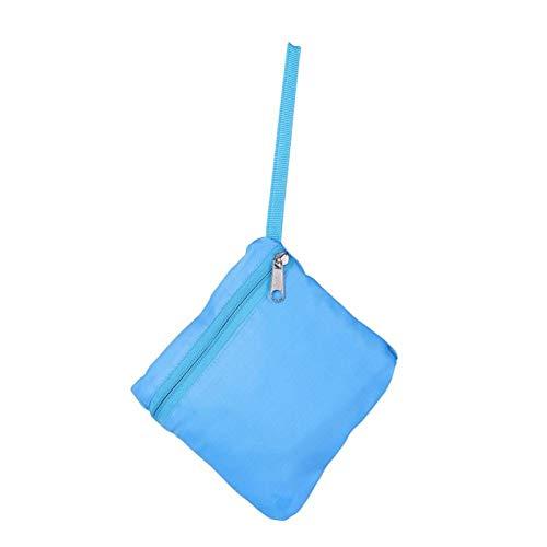 Bolsa de Playa de Malla, Bolsa de Playa, portátil para niños, Mochila con cordón de Malla, Bolsa de Almacenamiento de Juguetes de Concha de Playa al Aire Libre de Verano para(Azul)