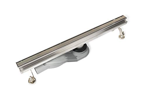 VBChome Slim-Ablauf 70 cm Duschrinne Bodenablauf Selbstreinigender Siphon mit Geruchsstop Größen 60-80 cm Ablaufrinne für Badezimmer Duschablauf, Komplettset