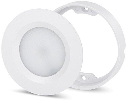 2in1 LED Slim Aufbauleuchte Einbauleuchte 230V - Trafo eingebaut - tagesweiß (4200 K)