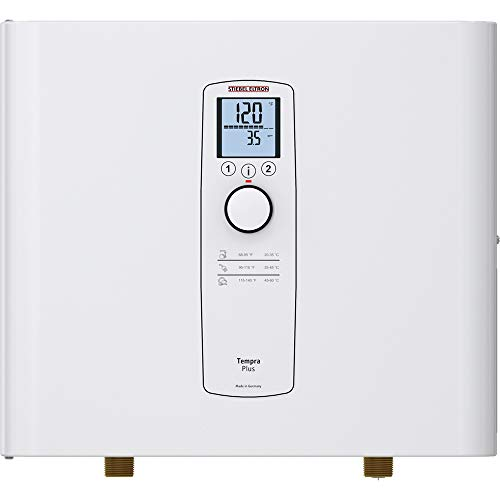 Stiebel Eltron Tankless Water Heater – Tempra 24 Plus – Electric, On Demand Hot Water, Eco, White, 20.2