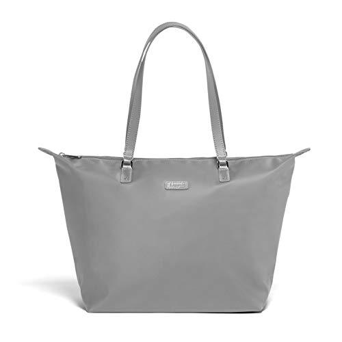 Lipault - Lady Plume Tote Bag - Medium Top Handle Shoulder Handbag for Women - Pearl Grey