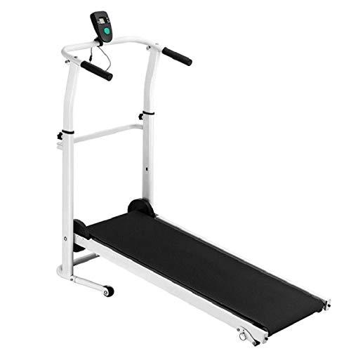 DATEWORK Treadmill, Folding Manual Treadmill,Jogging Walking Running Exercise Machine, Portable Cardio Fitness Exercise Incline Home Running Machine