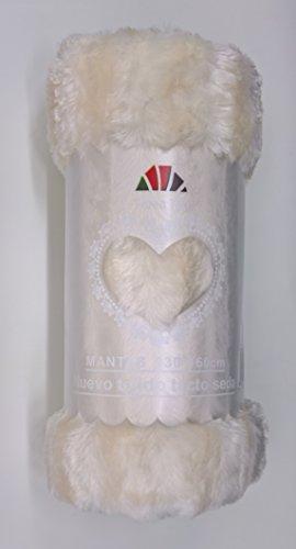 ForenTex - Manta VISÓN, (L-3048 Blanco) 220 x 240 cm, 2,05 kg, Cara Exterior imitación Visón, Cara Interior de Borreguillo en el Mismo Color para abrigarte con Estilo y Confort. para sofá y Cama.