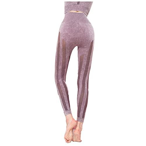 Impreso Pantalones de Yoga De Las Mujeres Cintura Alta Deportes de Gimnasio Polainas Barriguita Control Corriendo Ejercicio Estiramiento de Las Medias Estampado Polainas (Color : C, Size : X-Large)