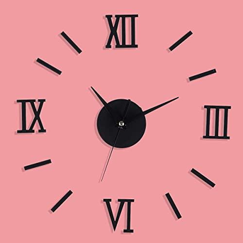Elegante y Moderno Reloj de Pared, Reloj Reloj de Pared Movimiento de Cuarzo Mecanismo de Manos Piezas de reparación Kit de Herramientas Decoración de Bricolaje - Plata (Color: Gold) (Color: Silver)
