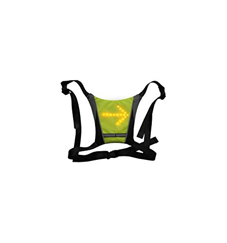Ornii – Chaleco amarillo – Respaldo intermitente LED reflectante – Seguridad para...