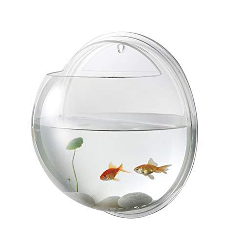 Balacoo Wandmontage Fisch Schüssel Fisch Schüssel Hängen Aquarium Transparent Home Ornament (19,5 cm)