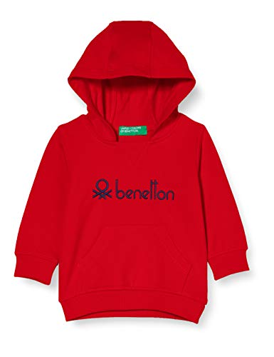 United Colors of Benetton (Z6ERJ) Maglia C/CAPP. M/L Sudadera con Capucha, Red 015, 104 cm para...