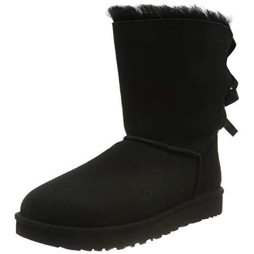 UGG Female Bailey Bow II Classic Boot, Black, 4 (UK)