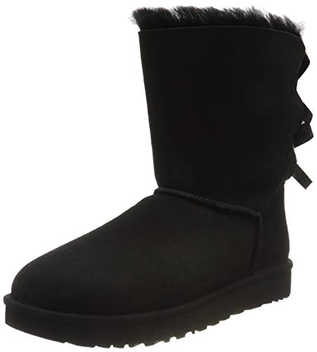 UGG Female Bailey Bow II Classic Boot, Black, 6 (UK)