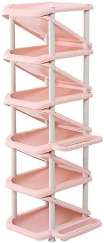 Ranuras de zapato ajustables Organizador Bastidore Estantería de zapatos Multi-capa Zapato de plástico Hogar Multifunción Zapato Z-En forma de Z Amplio Capacidad Ahorre espacio Puede almacenar Paragua