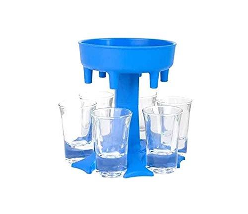 Dispensador de vasos de chupito, dispensador de bebidas, soporte para copas de vino, dispensador de licor, para juegos de beber, regalos de fiesta (azul)