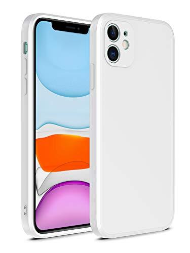 SevnPanda für iPhone 6 Plus Hülle Anti-Kratzer & Fingerabdruck & Mikrofaser Liner Stoßdämpfung Gel Gummi Rechtwinklig Ganzkörperschutz Flüssige Silikon Hülle für iPhone 6S Plus 5.5 Zoll (Weiß)