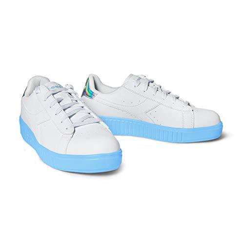 Diadora Zapatillas deportivas para mujer, modelo Game Step GS, 2 colores (blanco/azul cielo – 36 EU)