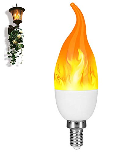 Bombilla led, Vagalbox LED Flame Effect Fire Light Bulb, 3 Modos E26 Bombilla Decorativa de Ambiente de Fuego, Luz de Llama Fuego Bulbo para el Hogar, Jardín, Fiesta, Bar, Boda, Navidad, etc