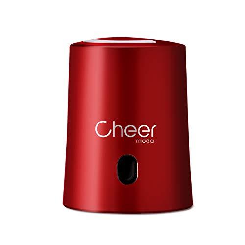 CHEER MODA Weinverschlüsse, Weinverschluss Weinsparvakuumpumpe und Weinflaschenverschluss mit Datumsmarkierung zum Entfernen von Luft und Vakuum - Weingeschenk für Weinliebhaber (Rot)