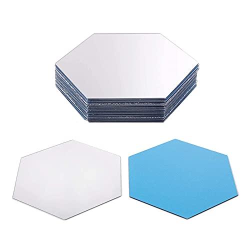 Guanici Espejo de Pared Hexagonal Autoadhesivo Espejos...