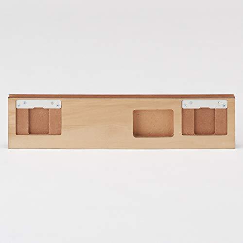 無印良品壁に付けられる家具・3連ハンガー・ウォールナット材幅44×奥行2.5×高さ10cm37287327