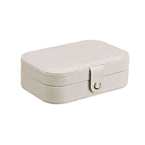 ZYCX123 Caja de Almacenamiento Caja de Recuerdo para los Viajes Collar de Anillos aretes Portable de la joyería Organizador del Caso de exhibición de Almacenamiento con Compartimiento Organizador re