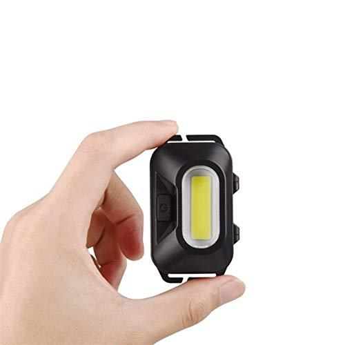 YSVSPRF Linterna Frontal Mini COB LED Headlamp Hoofdlamp Frontal Torch Torch Linterna Faro Linterna Alta Potencia Camping Pesca Luz Lámpara Linterna AAA (Body Color : Black)