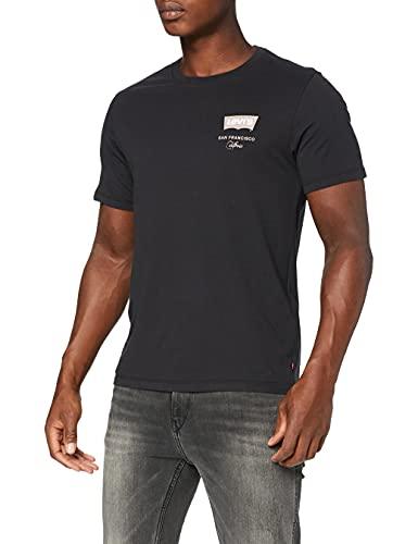 Levi's Housemark Graphic Tee T-Shirt, Caviar sul Petto Sinistro, L Uomo