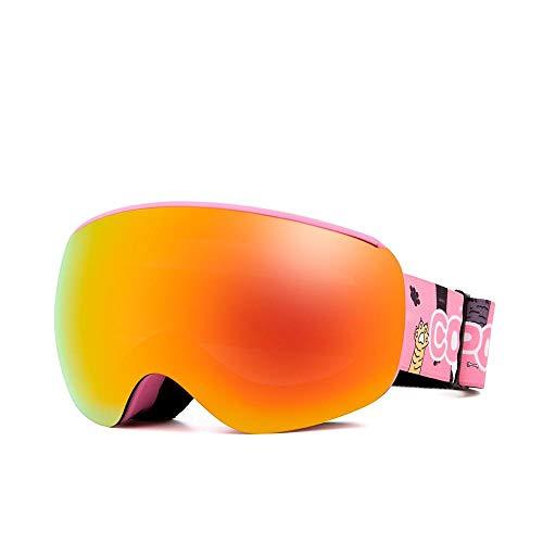 Generieke Skibril magnetische kinderen skibril voor kinderen Uv400 anti-condens-masker bril skiën meisjes jongens snowboardbril met gepersonaliseerde dragers