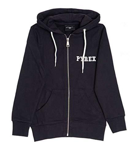 Felpa PYREX Kid con Zip e Cappuccio 017023 Made in Italy Nero, M-11/12 Anni