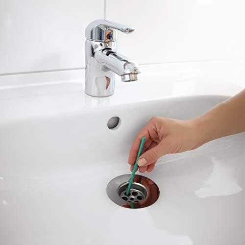 EASYmaxx Abflussreiniger Sticks mit frischen Apfelduft | Rohreiniger Stäbchen für Spüle, Dusche oder Waschbecken | 1 Stick reicht für 1 Monat Frische [50er Set, Apfelduft]
