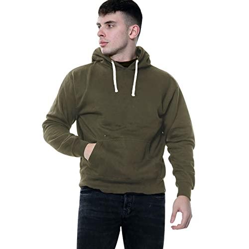 G8ONE Sudadera con capucha para hombre con capucha y forro polar liso con capucha, verde oliva oscuro, XXXXL