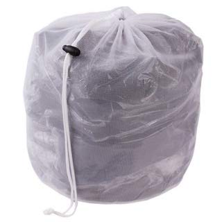 liltourist waszak, wasnet met trekkoord, waszak voor lingerie, overhemden, sokken en babykleding, vuile waszak nettas voor wasmachine - 2 stuks (wit)