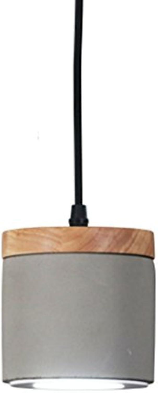 Kronleuchter Kronleuchter - Industrial Wind Zement Single Head Kronleuchter kreative Holz Restaurant Beleuchtung Decke Kronleuchter (12cm  12cm)  Kronleuchter (Farbe   A-Warm light)