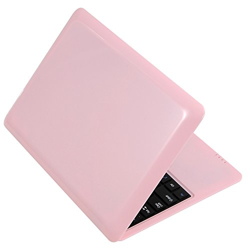 BIGMAC Laptop 10 Zoll Android 6.0 Quad Core Laptop Mini Netbook 8GB WIFI Webcam Netflix YouTube Google Flash Ultra Slim (Pink)