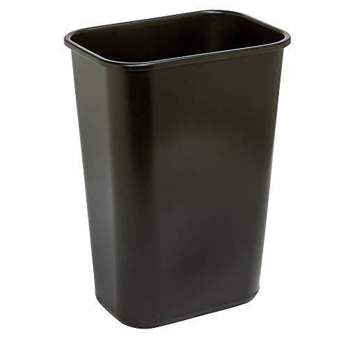 Highmark Office Depot Wastebasket, 10.25 Gallons, 20 1/2in.H x 15 1/2in.W x 11 1/2in.D, Black, WB0196