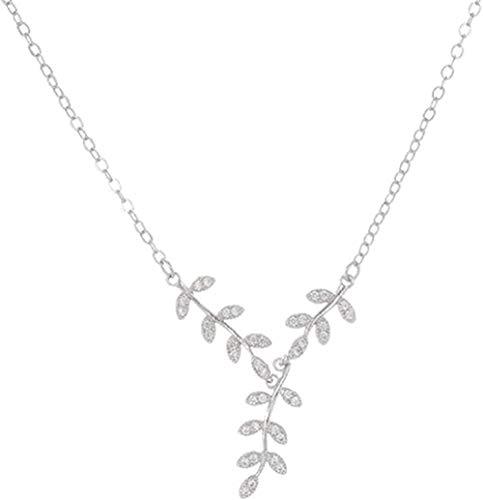 NC110 Collar Hoja de Cristal Collar Collares y Colgantes para Mujer Joyería YUAHJIGE