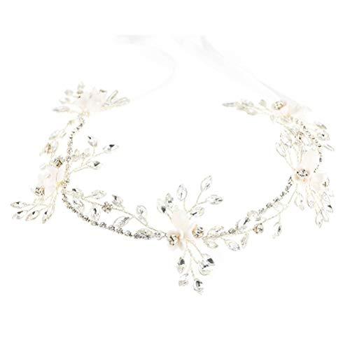 Ihairband Diadema de Cristal, Bridesmaid Fotografía Artesanal De Diamantes Brillantes Rhinestone Flower...
