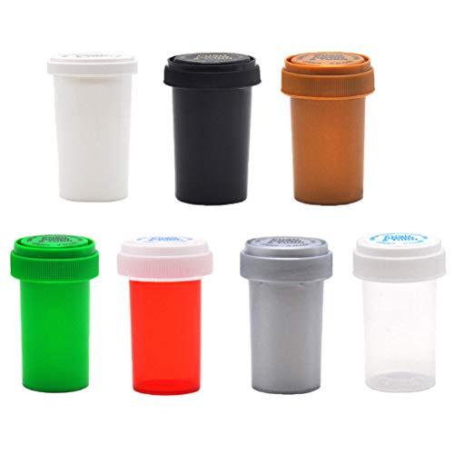 Yesoa Pillendose, 75 ml/110 ml, Pillenflasche, Tablettenbehälter, Fläschchenbehälter, Unkrautbehälter, Pillenflasche, Kräuterbox, 2 Stück