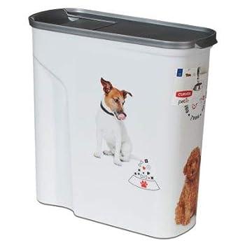 CURVER | Verseuse 6L/2.5Kg - Love pets - Chiens, Blanc, Pet dry food container, 27,8x11,8x27,9 cm