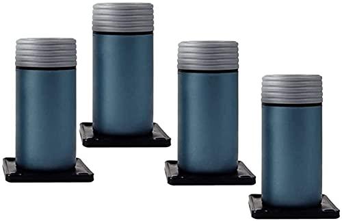 JYV Muebles Ajustables Piernas de sofá de pie, rodamiento 400 kg, gabinete de TV/Mesa de café/de baño PIE DE DIY Reemplazo Piernas de Muebles (Color : Blue, Size : 10cm/4in)