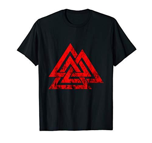 Valknut Symbol Nordic Viking Odin Sign Wicca Norse Mythology T-Shirt