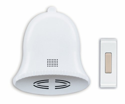Heath/Zenith SL-6504 Wireless Battery-Operated Door Chime Kit with Three Holiday Tunes, White
