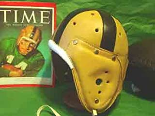 Notre Dame/Navy Leather Football Helmet (1940s)