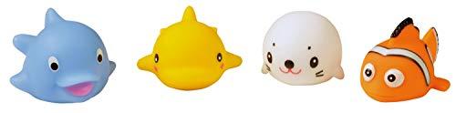 HEITECH LED Badespielzeug für Baby & Kinder - Fische Badetiere leuchtend im 4er Pack - Leuchtendes & schwimmendes Badewanne Spielzeug, Fisch Badewannen Wasserspielzeug, Badewannenspielzeug Wasser