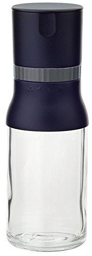 iwaki(イワキ) 耐熱ガラス 調味料入れ ミル 岩塩・スパイス ブラック KS520NSPBK