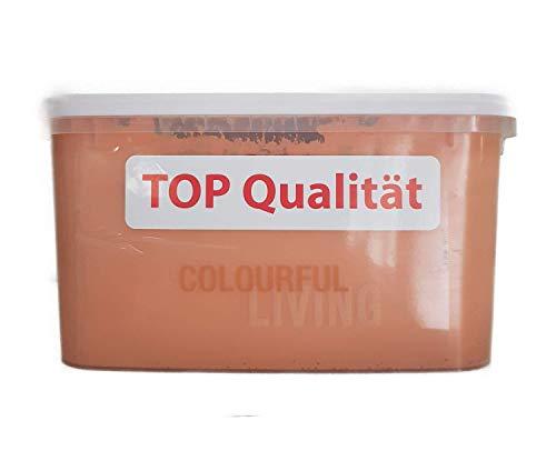 Colourful Living BUNTE WANDFARBE Wandfarbe matt 5 Liter Farbwahl, Farbe:Peach