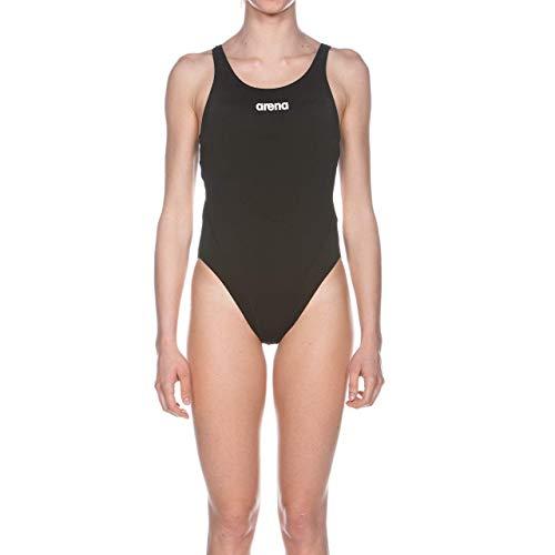 Arena W Solid Swim Tech High, Costume Sportivo Donna, Nero (Black/White), 44