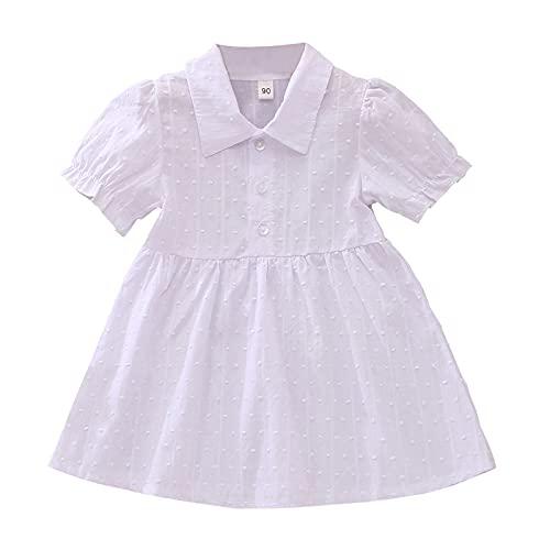 Covermason Baby Sommer Kleidung Mädchen Kinderkleidung Elegant Prinzessin Kleid Kurzärmeliges Kleid T-Shirt Kleider Shirtkleid Puffärmeln Sommerkleid Strandkleid Freizeitkleidung Partykleid